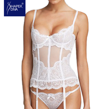 Shaper Diva white Overbust corset sexy See Through Mesh Slimming Bridal lingerie Sexy Lace up Ribbon Lingerie Corset Tops
