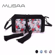 MUSAA Fresh Simple Small Sling Shoulder Bag for Women PU Leather Crossbody Bags Detachable Harness Handbag Multi-color Optional(China)