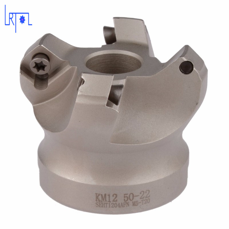 4flute KM12 50-22-4T 45 Degree Shoulder Mill Cutter Head for SEHT1204<br>