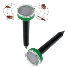 Solar Power Eco-Friendly Ultrasonic Pest Balcony Garden Repeller Control Mice Mouse Snake Fly Mosquito Repeller(China)