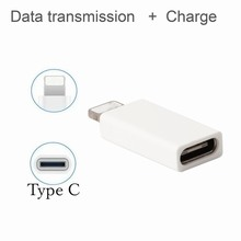 Ascromy Type-C USB-C to 8-Pin Charge Data Sync Adapter Converter For iPhone 7 Plus 6 6S 5 5S 5C SE iPad iPod Charger Cables