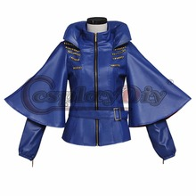 Cosplaydiy Descendants Maleficent Evil Queen Blue Jacket Oufit Adult Women Halloween Carnival Cosplay Costume Custom Made