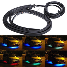 DC 12V RGB 5050SMD LED Light Strip Automotive Atmosphere Decor Car Interior Wireless Music Control 7 Color Tint Chassis Lamp