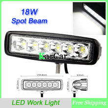 "6"" Slim 18W 6X3W LED Work Light Spot Beam ATV 4X4 Off-Road Light Lamp, Wholesale IP67 Fog driving Bar 4WD truck Car Epsitar LED"