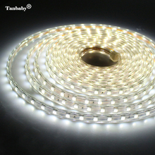 Tanbaby 220V LED Strip With EU Plug SMD 5050 Flexible LED tape 1M/2M/5M/10M 60leds/M  Waterproof  oudtoor Home Decoration Lamps