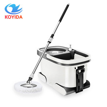 360 Degree Spinning Mop Bucket Hand Pressure Rotating Mop Cleaning Bucket Portable Household Stainless Steel Spinning Mop Bucket