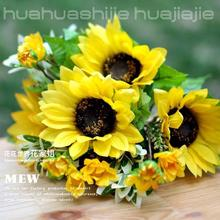 25pcs seven new Sunflowers simulation flowers silk flower artificial flowers wholesale flower placed in the living room table