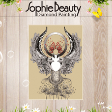 Sophie Beauty Diy Diamond Painting Cross Stitch Crystal Full Square Drawing Embroidery God Make Masks Crafts Art Sewing Mosaic(China)
