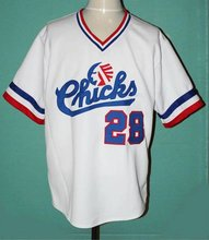SexeMara Baseball Jersey #28 Bo Jackson Chicks White Throwback Baseball Movie Jersey Size S-3XL Free Shipping