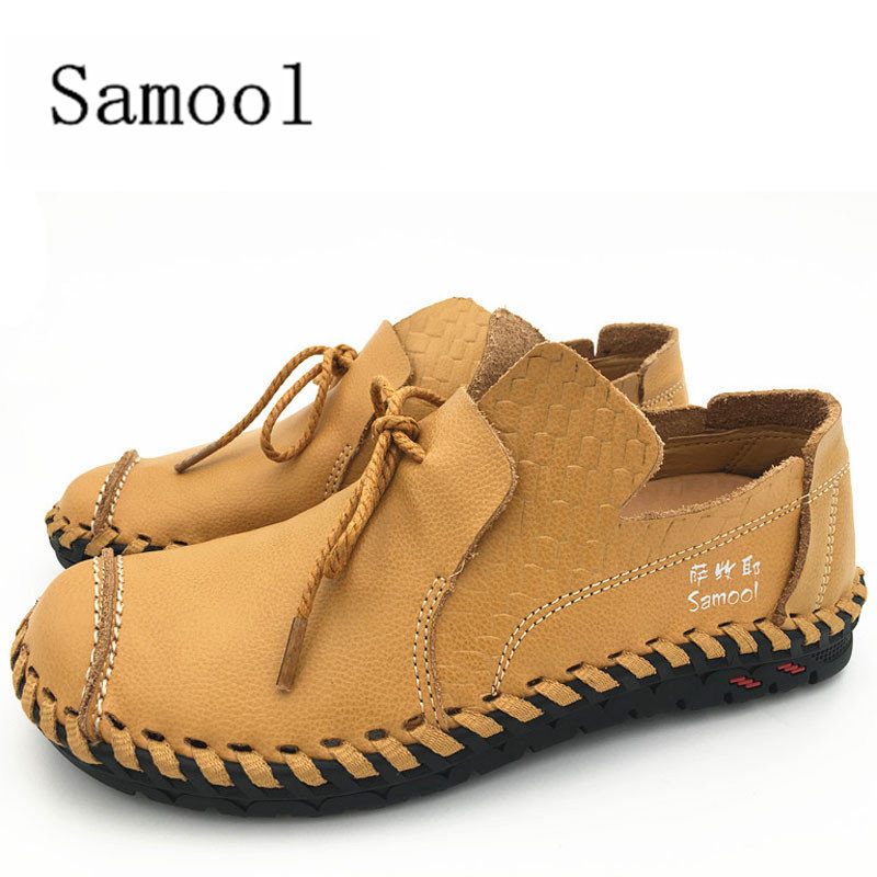 Mens Genuine Leather Shoes Autumn 2017 Comfortable Light Car Driving Shoes Casual Outdoor Lace Up Flats Loafers Male Moccasins<br>