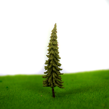 artificial Plastic 100Pcs/Set Architecture 5.5cm ABS plastic  mini scale model trees for railroad model train layout