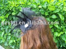 wholesale Black FASCINATOR ,dances,races,weddings,Party HAT costume flower hair Hat  h201