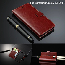 Phone Case For Samsung Galaxy A5 2017 SM-A520F Case Cover Luxury Flip Original Leather Wallet For Samsung A5 2017 Case For Women(China)