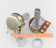 free shipping 10 Pcs Type B Single Linear 15mm Shaft Rotary Taper Potentiometers B2K 2K Ohm Rotary Switches(China)