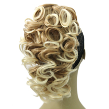 Soowee Short Curly High Temperature Fiber Synthetic Hair Clip In Hair Extensions Little Pony Tail Blonde Black Claw Ponytail(China)