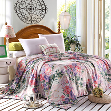 Floral print 100% natural silk Comforter summer handmade mulberry silk Duvet thin/thick quilt winter Blankets Fast shipping