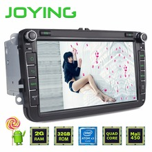 Joying 8 inch Android 5.1.1 Lollipop Car Radio 2 din DVD Player For VW Volkswagen Touran Passat Support Bluetooth DAB TV +DVR