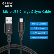 Buy ORICO Micro USB Nylon Cable Samsung Xiaomi Fast Charge USB Data Cable Android Microusb Charging Cable Mobile Phone Cable for $2.99 in AliExpress store