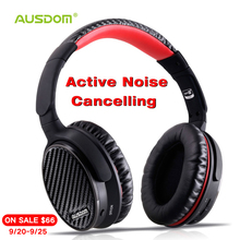 Ausdom ANC7 Active Noise Cancelling Wireless Headphones Bluetooth Headset with Mic APTX Pure Sound for TV Sports Subway Plane