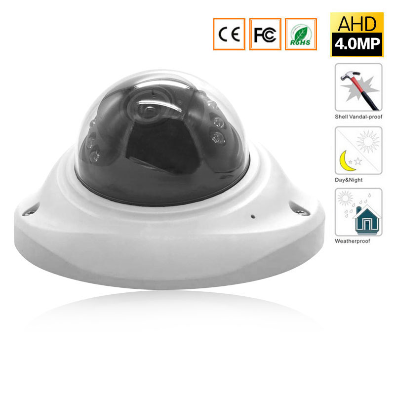 4MP Security Dome watreproof AHD HD Outdoor indoor Camera, 4 Megapixel CCTV Camera for AHD DVR Surveillance System<br>