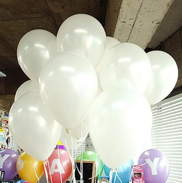 cheap 100pcs 10'' 1.2g Round Shape Latex Pearl Balloons Party Decorate Valentine's Day Happy Birthday Wedding Decoration Balloon 7