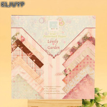 KLJUYP 24 Sheets Lovely Garden Scrapbooking Pads Paper Origami Art Background Paper Card Making DIY Scrapbook Paper Craft(China)