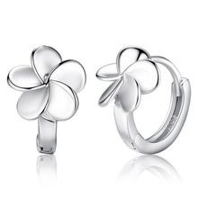 Arrivals 2016 Fashion Simple 925 Sterling silver Stud Earrings Flower Design Earring For Women Ear Jewelry Girl Earring