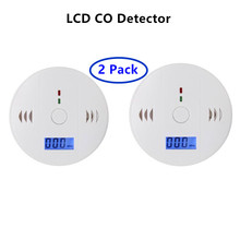 Buy 2 Pack Home Security Warning High Sensitive LCD Photoelectric Independent CO Gas Sensor Carbon Monoxide Poisoning Alarm Detector for $15.33 in AliExpress store
