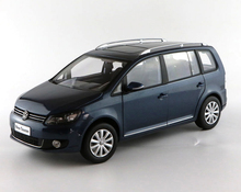 1:18 Diecast Model for Volkswagen VW Touran TSI 2013 MPV Blue Alloy Toy Car Collection Gifts(China)