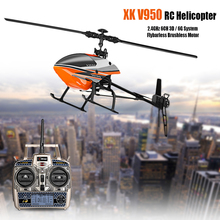 WLtoys V950 Big Helicopter With Brushless Motor 2.4G 6CH 3D 6G System Flybarless Remote Control Helicopter RTF Toys High Quality(China)