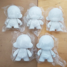 "10pcs/Lot 4"" inch white Kidrobot Munny dolls do it yourself Diy Vinyl Art Figure toys With Opp Bag 12cm Unpainted Doll Toy2R(China)"