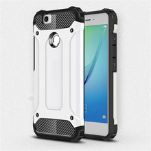 for Huawei Nova [Steel Armor] 2in1 Carbon Fibre Premium Soft TPU + Hard PC Hybrid Back Cover Cell Phone Armor Case Shockproof