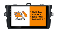 Eight Core Android 7.1.2 OTOJETA car dvd FOR toyota COROLLA 2008+ HEAD STEREO Touch screen radio BT gps 1080p DVR/WIFI/3G/4G(China)