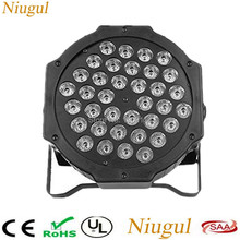 High brightness 36X3W RGB Led Stage Lights LED Par Light With DMX512 Master Slave Flat DJ Equipments Controller for Party Disco(China)