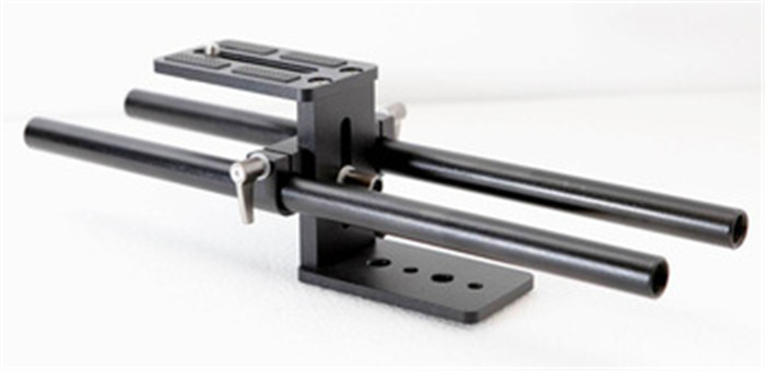 F07069 Simple Rail Rod Support System Baseplate Mount for DSLR Follow Focus Rig 5D2(China)