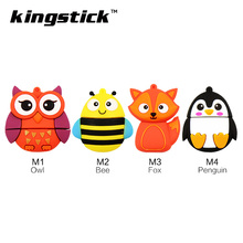 Cute Animals usb flash drive Owl Penguin Fox Bee 32gb pendrive 16gb usb stick 4gb 8gb flashdrive usb stick u disk pen drive