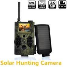 Solar powered Panel Hunting trail camera MMS 940NM IR Infrared Hunting Camera Digital Scouting Trail Video Camera