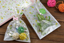 Dream Plants 12*18cm open top candy bag for bakery gift cookie packaging(China)