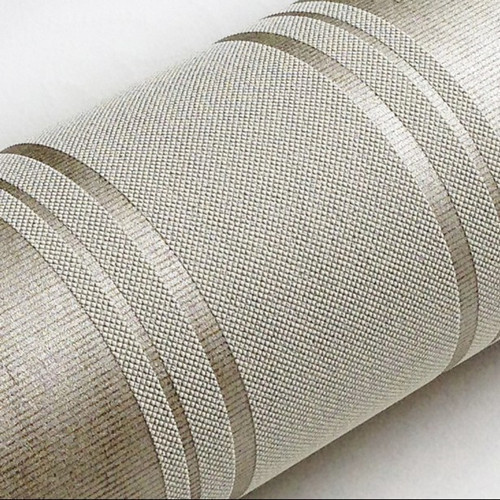 Modern Silver Grey Horizontal Stripes Wallpaper papel de parede moderna designs wall paper striped  of  Living room Decor<br>