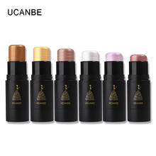 UCANBE Brand Shimmer Bronzer Highlighter Stick 3D Face Makeup Concealer Foundation Stick Contour Pencil Illuminator Glow Kit(China)