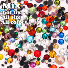 DMC Hot Fix Rhinestone Mix All Sizes All Color Approx 1600pcs  Iron-on  Hot Fix Stone Crystal Beads Free Shipping ! Y0026