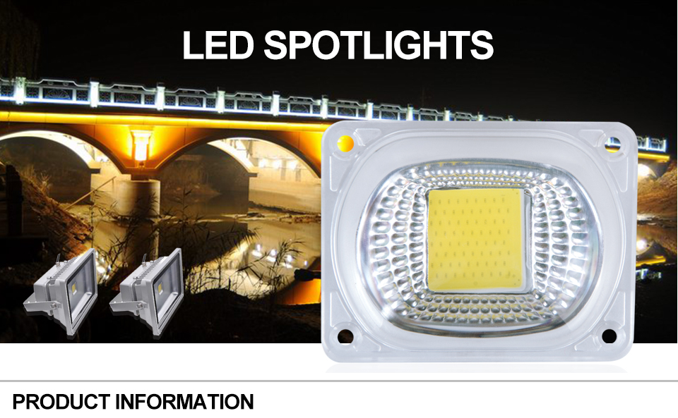 COB LED Chip Light With lens reflector (1)