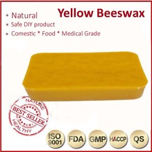 250g Organic Beeswax Food Grade Bees Wax- for candle, soap,lip balm Natural Yellow Beeswax Block supplier