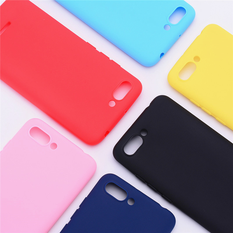 Silicone Case On Xiaomi Redmi 6A Cover For Redmi 6 6A Case Soft TPU Color Matte Back Cover Phone Case For Redmi 6 A Redmi 6A(China)