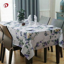 Country Style Flower Print Tablecloth 100% Egyptian Cotton Multifunctional Wedding Home Decor Rectangle Table Cover Table Cloth
