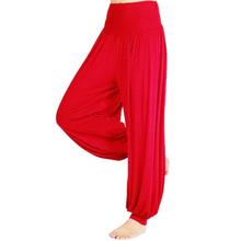Buy 5Set Sale Ladies Solid Harem Yoga Sport Flare Modal Pant Belly Elastic Waist Dance Club Wide Leg Pants Loose Long Trousers-Red,M for $33.99 in AliExpress store
