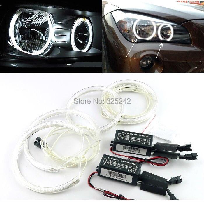 For BMW X1 E84 2010 2011 2012 2013 2014 Halogen headlight Excellent Ultra bright illumination CCFL Angel Eyes kit Halo Ring<br><br>Aliexpress
