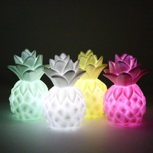Great Gift LED Pineapple Night Lights Bedside Lamp 4 Color Children Cute Night Lamp Christmas Bedroom Home Decoration Light