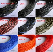 "14MM 9/16"" TIGHT Braided PET Expandable Sleeving Cable Wire Sheath 5 Meters(China)"