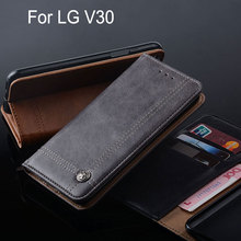 Buy lg V30 case Luxury Leather Flip cover Stand Card Slot Vintage Business style phone Case lg v30 funda Without magnet for $6.62 in AliExpress store